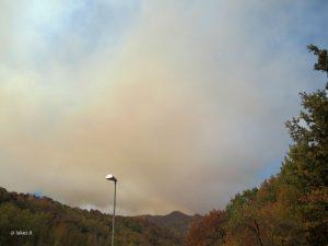 Incendi in valle di Susa - fumo in arrivo