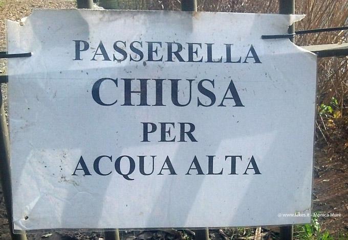 Passerella Chiusa per Acqua Alta